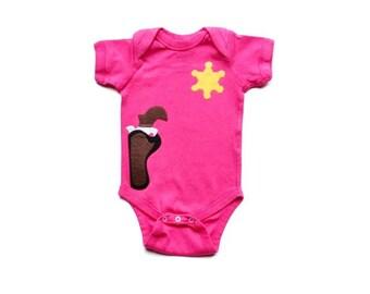 Baby Girl Sheriff Bodysuit, Cowgirl Baby Gift