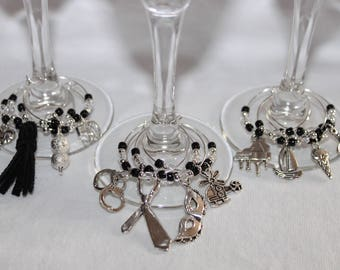 Fifty Shades of Grey Wine Charms Set of 12 Fifty Shades Wine Charms