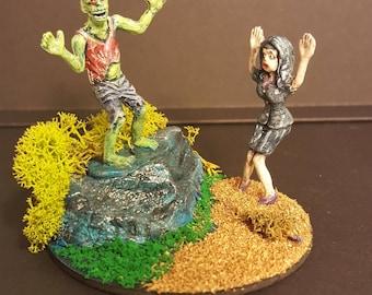 """Zombie Apocalypse miniature diorama """"Cerebellum on the Mount"""""""