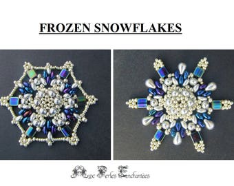 Beading tutorial beading pattern, snowflakes, Frozen snowflakes, tutorial, beading, pearls, snowflake, ornament, christmas