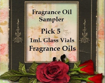 Sampler of Fragrance Oils 5 ~1ml Vials