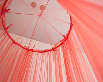Coral Baldachin -  Tulle Canopy, Crib  Bed Mesh Canopy, Nursery canopy, Bed canopy, Play room canopy, Hanging Canopy, Nook, Photo