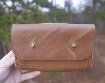 Clutch Made from Natural Horween Chromexcel