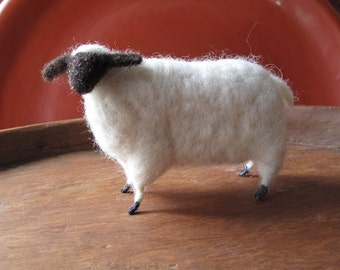 Ready to Ship Primitive Needle Felted Wool Sheep Lamb Ewe Vintage Inspired