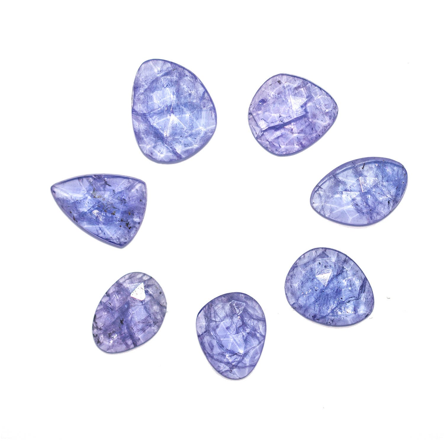 natural raw rose tanzanite freeforms il cabochon cut fullxfull slice loose gemstones listing