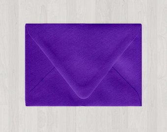 10 A7 Envelopes - Euro Flap - Purple - DIY Invitations - Envelopes for Weddings and Other Events