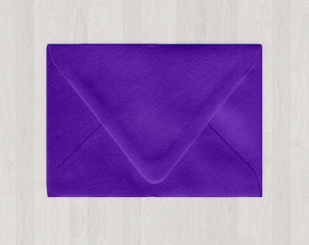 10 A2 Envelopes - Euro Flap - Purple - DIY Invitations and Response Cards - Envelopes for Weddings and Other Events