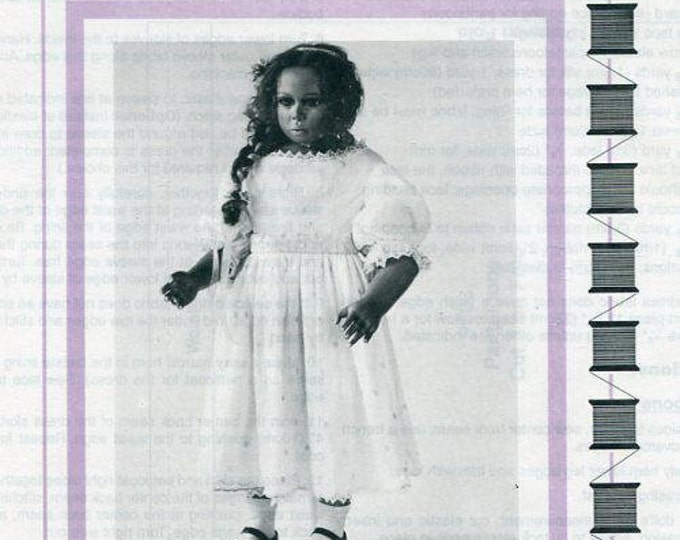 "Free usa Ship Seely's Modern Doll Art KATARINA DRESS 25"" 1996 New Craft Out of Print Old Store Stock Sewing Pattern"