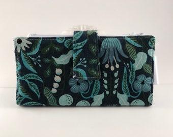 Dave Ramsey Style Cash Envelope System (Blue Floral & Blue + ) 4 pockets