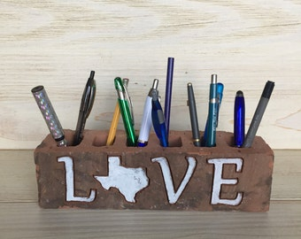 Live Love Texas Rustic Engraved Brick
