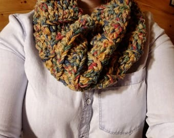 Cozy cowl in fall colors
