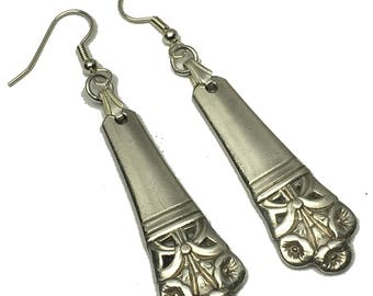 Spoon Earrings 1945 Morning Glory by Wallace Antique Vintage Silverplate Silverware Gift