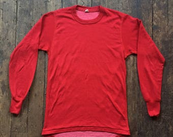 1970s Stanfields thermal red undershirt