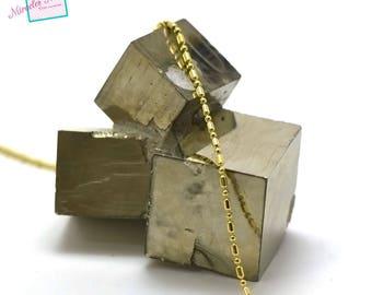 "1 m ""various tube bead"" chain, gold 08"