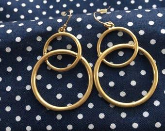 Matte Gold earrings