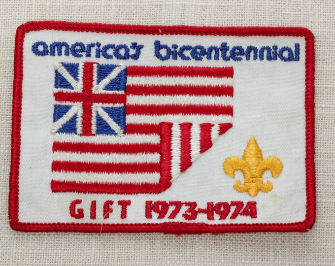 Vintage America's Bicentennial Patch | Sew On Patch | Gift 1973-1974 | Boy Scouts of America BSA | United States | Dad Gift 1970s