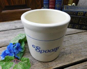 Vintage Gaetano Pottery Calif. U.S. A. Spoon Crock
