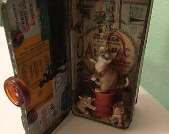 altoid memory tin  3 little kittens