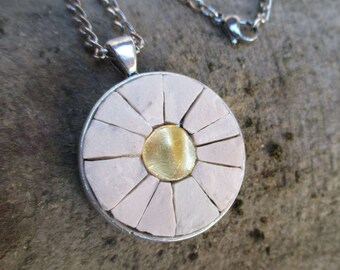 Gold and white Pendant