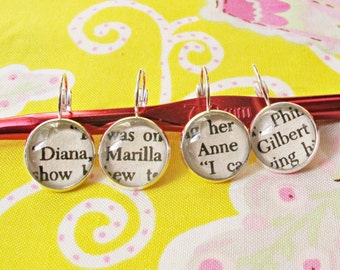 Anne of Green Gables Jewelry - Stitch Marker For Crochet Knitting - Set Jewellery Earrings Women - Craft Supplies Progress Keeper Shirley