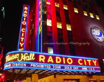 Radio City Music Hall New York - 11x14 Photograph