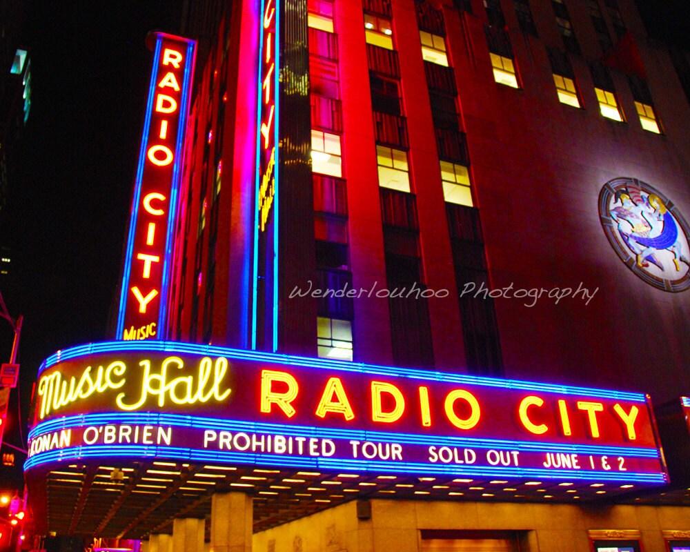 Radio City Music Hall New York 11x14 Photograph