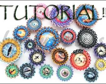 TUTORIAL - Wrapping Cabochons in Chain Maille - 11 different ring combinations for 7 sizes of glass cabochons - Intermediate Level