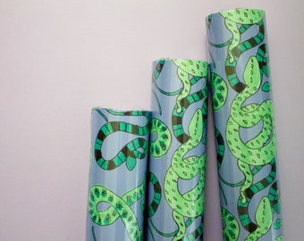 Snakes Gift Wrap, 3-Sheet Roll
