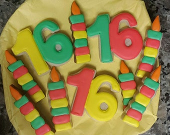 Sweet 16 Sugar Cookies