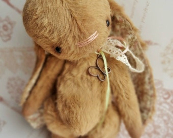 Сollectible Bunny Bloom, teddy bunny, teddy bear, artist teddy toy, interior doll, artist bear