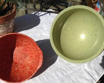 Green Texas Ware Confetti melmac bowl