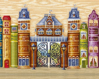 """Counted Cross Stitch Kit """"Make Your Own Hands"""" - """"Kingdom of books"""""""