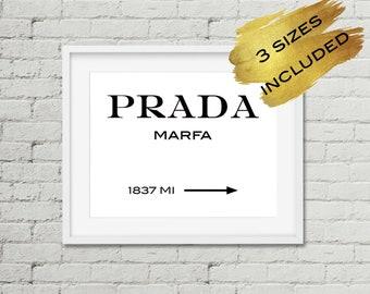 Prada Marfa Print,Printable Prada sign,Prada Print,Prada marfa sign,Fashion Poster,Fashion Quote,Printable Wall Art,Prada Logo,Digital Print