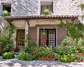House / South of France / / Garden Plants / / Home Decor / French Photography / French Village Photo
