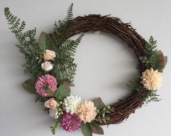 Rustic Vine Pastel Wreath
