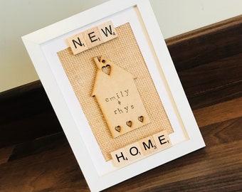 Shabby chic New Home Gift Frame