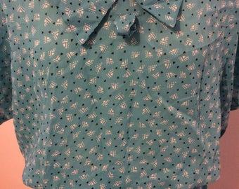 Light Blue 1980s vintage Dress