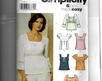 Simplicity Misses' Pullover Top Pattern 5683
