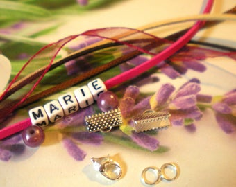 CUFF BRACELET KIT * girl * with the name choice
