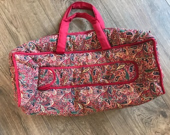 Gorgeous Paisley design knitting bag