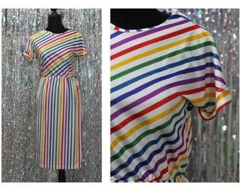 Multi-Color 90's Di Carlo California Dress - Summer 2017 (XS)