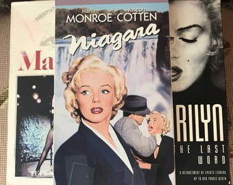Marilyn Monroe, VHS, Five VH's, Niagara, Some Like it Hot, Marilyn, The Last Word, Monkey Business, Let's Make Love