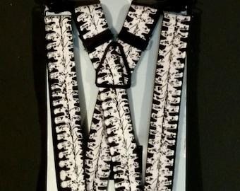 Spine Printed Suspenders or Braces