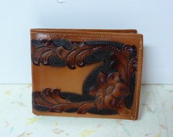 Vintage Genuine Tooled Leather Wallet