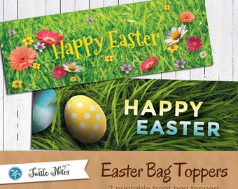 2 Printable Easter Treat Bag Toppers     Candy Bag Tag