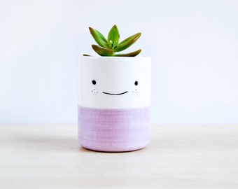 Cute ceramic flower pot, Ceramic planter, Succulent planter, Ceramics & pottery, Flower plant pot, Planter flower pot,Ceramic vase succulent