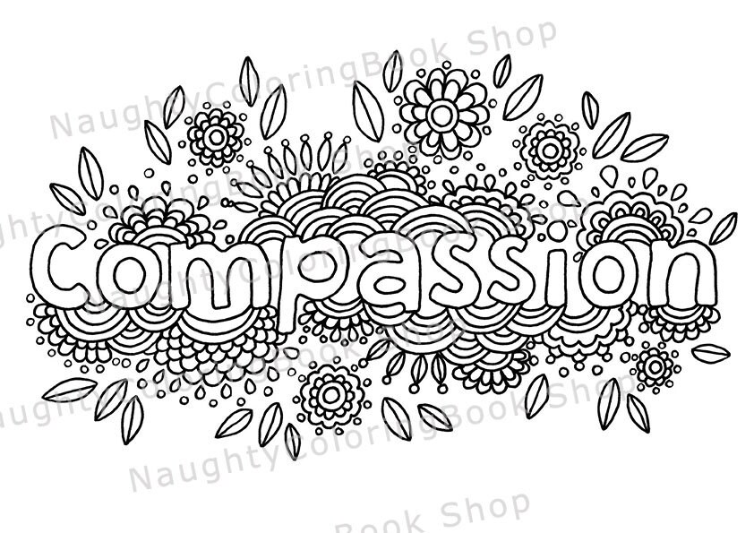 Compassion Printable Gift Coloring Page Bare Necessities