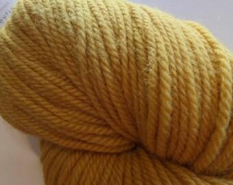 Zeta - Luna Grey Fiber Arts - Honeycomb - Polwarth - Wool - Silk - Yellow - Hand dyed - Kettle dyed - Tonal - DK weight - Yarn - Knitting
