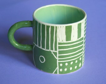 Illustrated Ceramic Mug