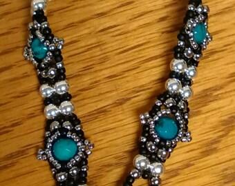 Blue green turquoise bracelet